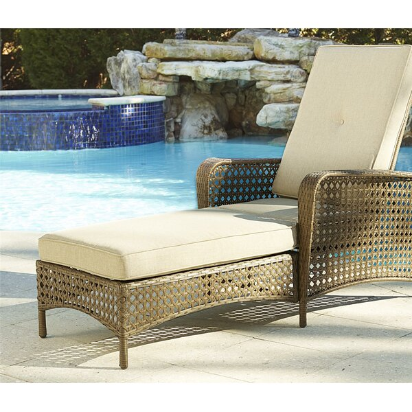 Edwards Reclining Chaise Lounge with Cushion by Highland Dunes