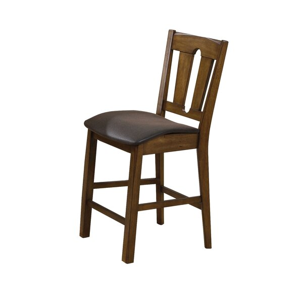 Elliana Genuine Leather Upholstered Dining Chair (Set of 2) by Alcott Hill