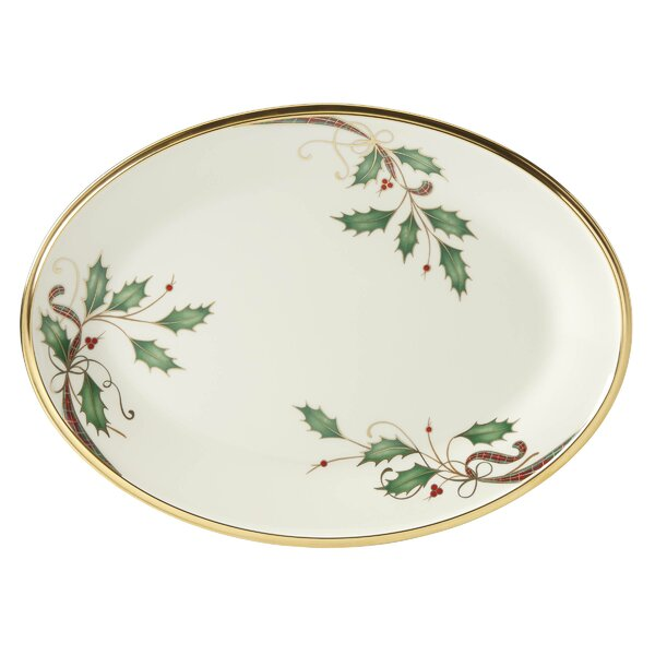 Holiday Nouveau Oval Platter by Lenox