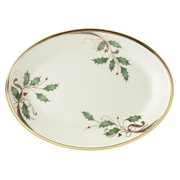 Holiday Nouveau Oval Platter by Lenox