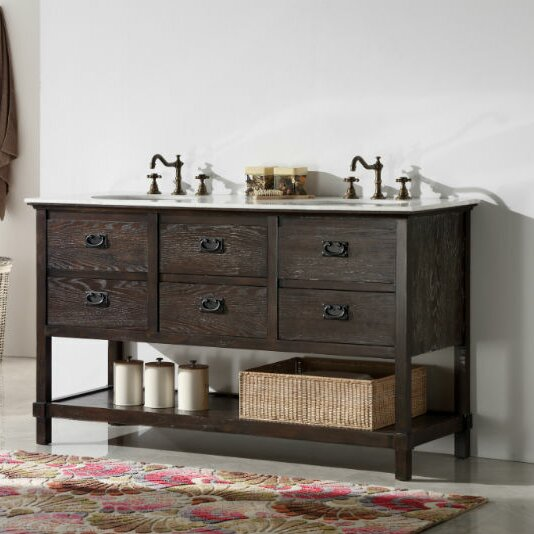 Peoria 60 Double Bathroom Vanity Set by Three Posts