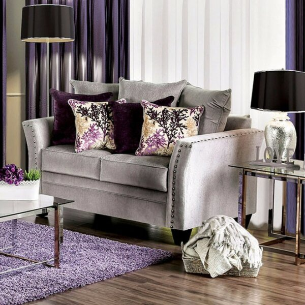 Free Shipping & Free Returns On Fulmer Elegant Loveseat by Everly Quinn by Everly Quinn