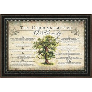 Wedding & Family 'Ten Commandments for Family' Textual Art by Carpentree