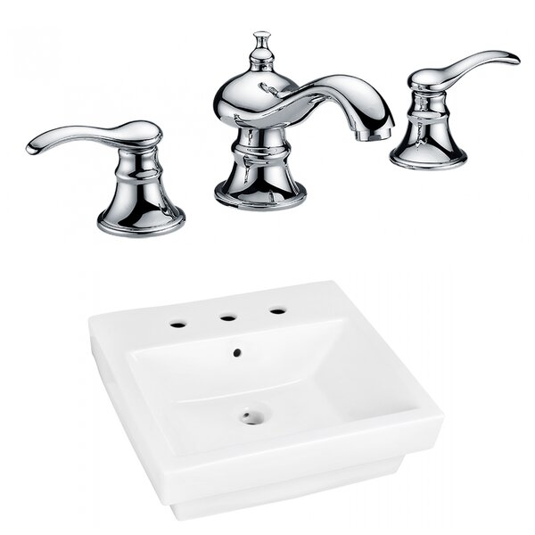 Ceramic Rectangular Bathroom Sink with Faucet and Overflow by Royal Purple Bath Kitchen