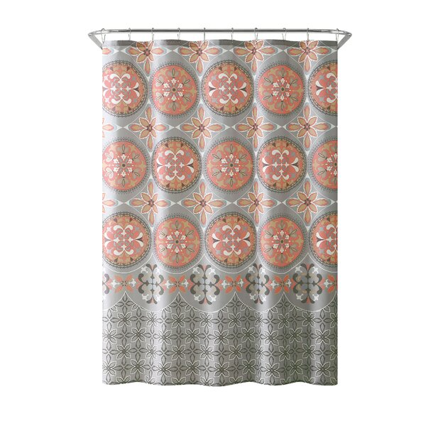 Bannock Medallion Boho Printed Shower Curtain by W