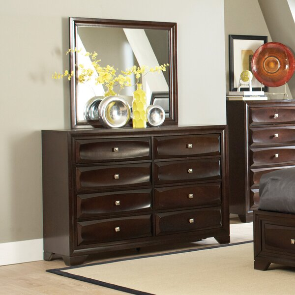 8 Drawer Double Dresser with Mirror by Wildon Home ®
