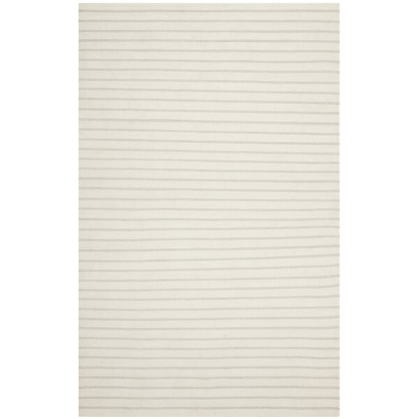Dhurries Hand-Woven White Area Rug by Safavieh