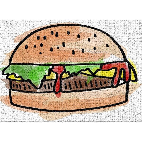 Food Brown Area Rug