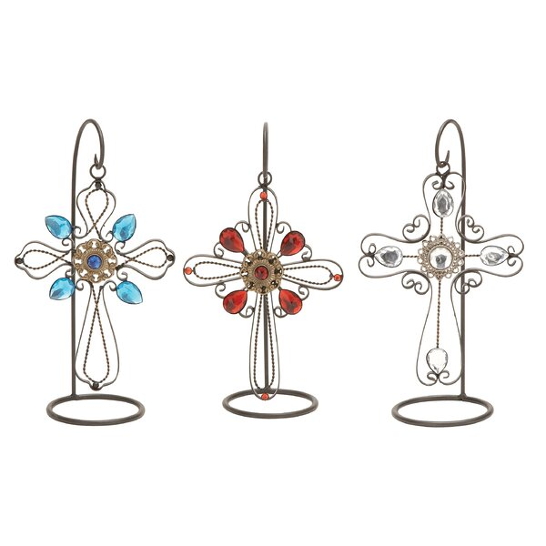 3 Piece Metal Cross Set by Cole & Grey