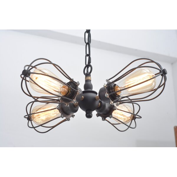 Kati Squirrel Cage 4-Light Sputnik Chandelier by Williston Forge