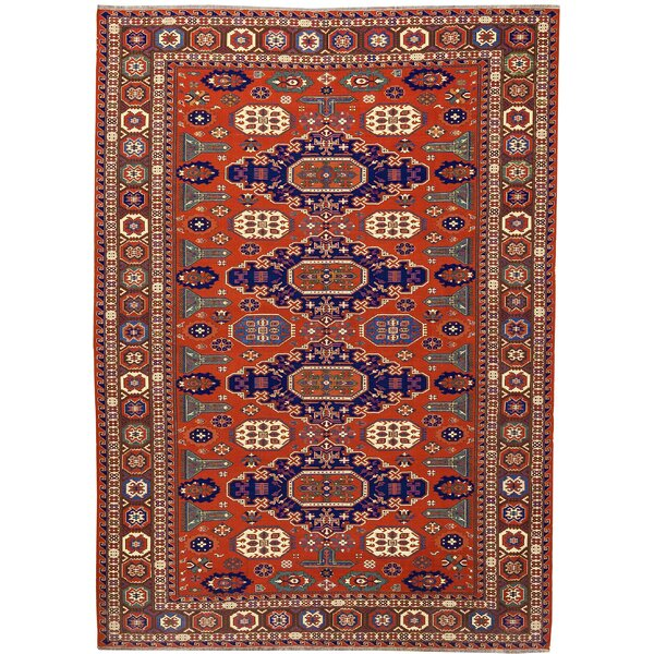 One-of-a-Kind Hand-Knotted Wool Orange/Brown Area Rug by Bokara Rug Co., Inc.