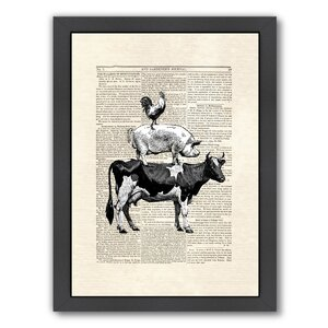 Cow Stack Framed Graphic Art by Laurel Foundry Modern Farmhouse
