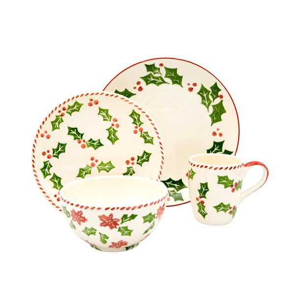 16 Piece Dinnerware Set, Service for 4 by The Holiday Aisle
