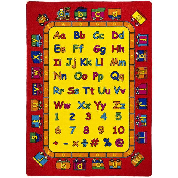 ABC Fun Yellow/Red Kids Rug by LYKE Home