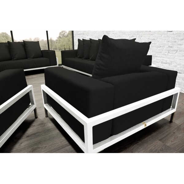 Tilly Patio 4 Piece Sofa Set With Cushions by Orren Ellis