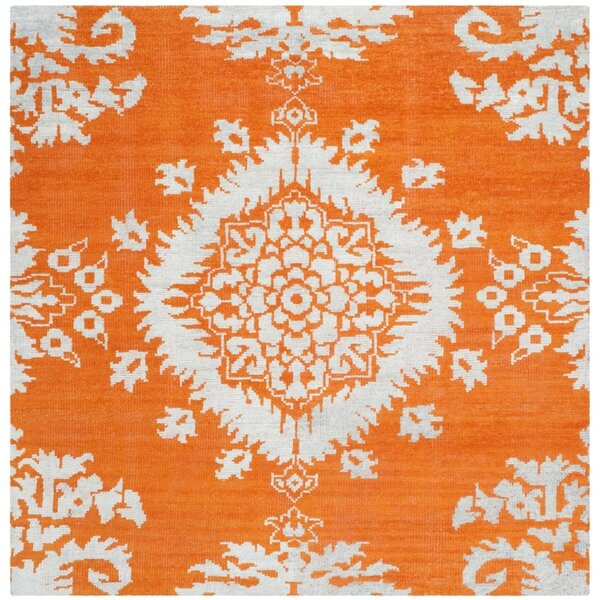 Bottesford Hand-Knotted Gold Area Rug by House of Hampton