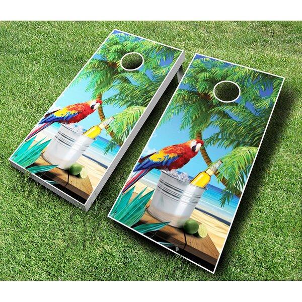 10 Piece Parrot Cornhole Set by AJJ Cornhole