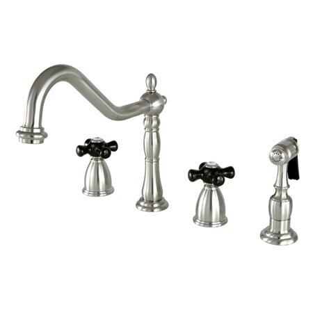 Duchess Double Handle Kitchen Faucet with Optional Side Spray by Kingston Brass