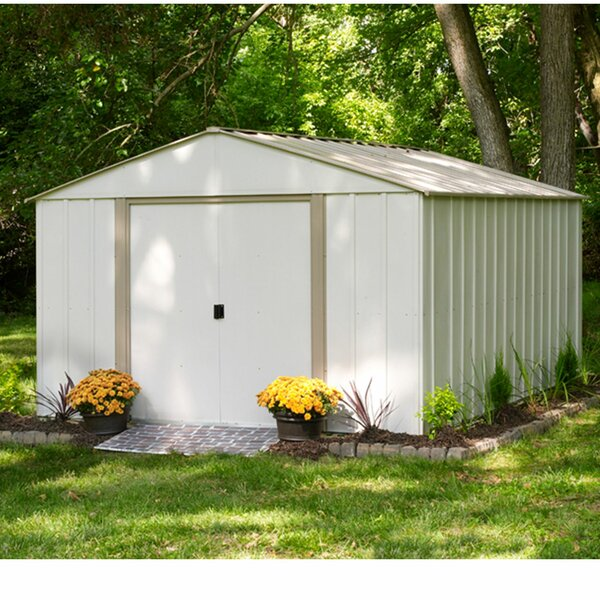 Oakbrook 10 ft. 3 in. W x 13 ft. 7 in. D Metal Storage Shed by Arrow