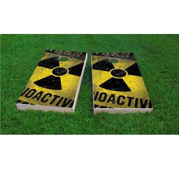 Radioactive / Nuclear Waste Cornhole Game Set by Custom Cornhole Boards