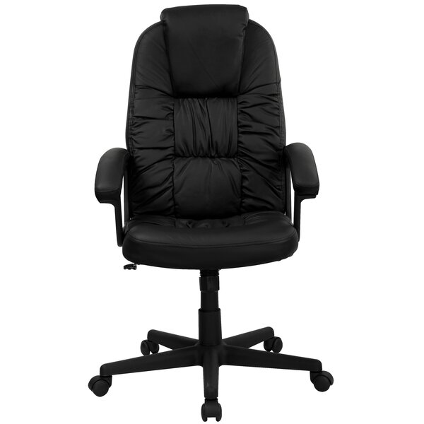 Winterbourne Leather Executive Chair by Symple Stuff