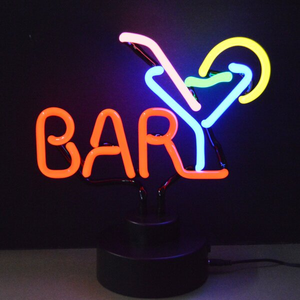 Business Signs Bar with Martini Neon Sign by Neone