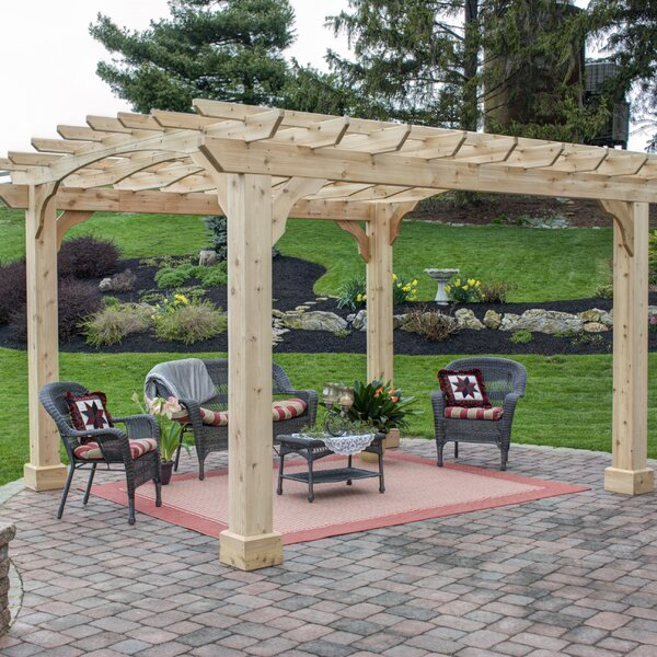 12 Ft. W x Solid Wood Pergola by YardCraft