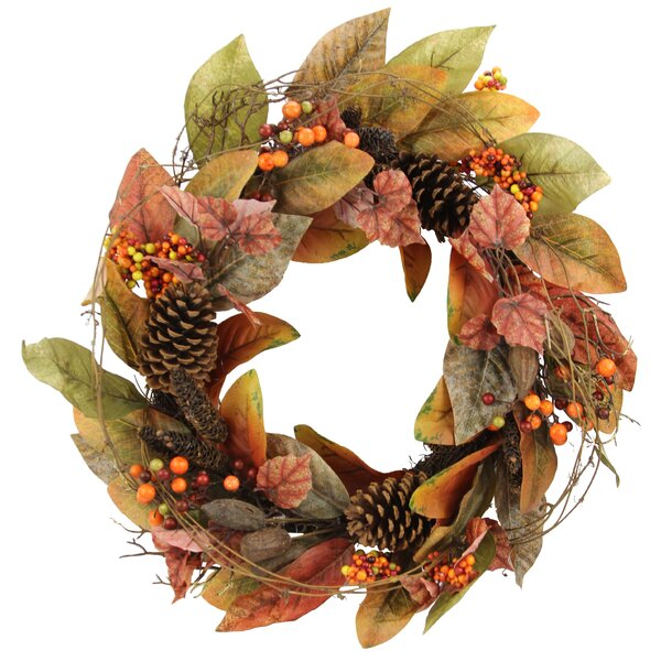 Fall 24 Polyester Wreath by Charlton Home