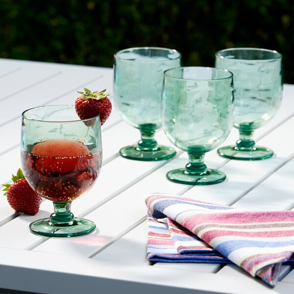 Cecilio Plastic All Purpose Glass Set (Set of 6) by Mint Pantry