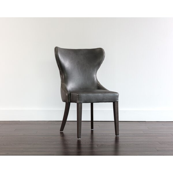 Welke Upholstered Wingback Parsons Chair By Canora Grey