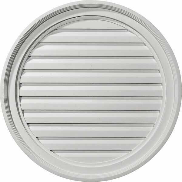 24H x 24W Round Gable Vent Louver by Ekena Millwork