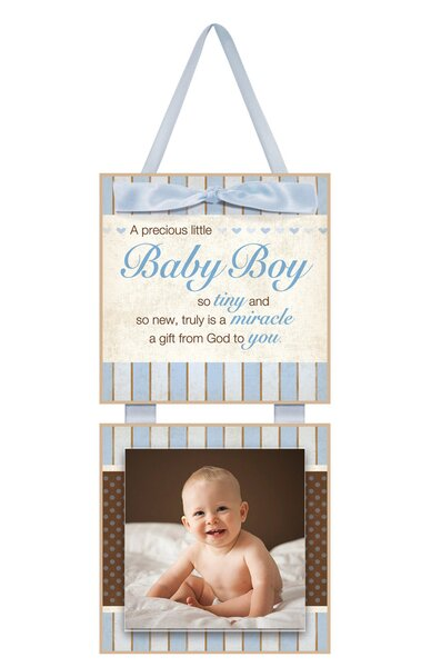 Celebrations Baby Boy Christian Picture Frame by Imagine Design