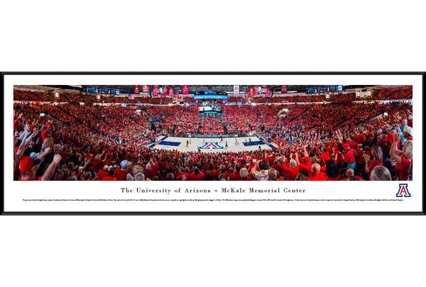 NCAA Arizona, University of - Basketball by Christopher Gjevre Framed Photographic Print by Blakeway Worldwide Panoramas, Inc