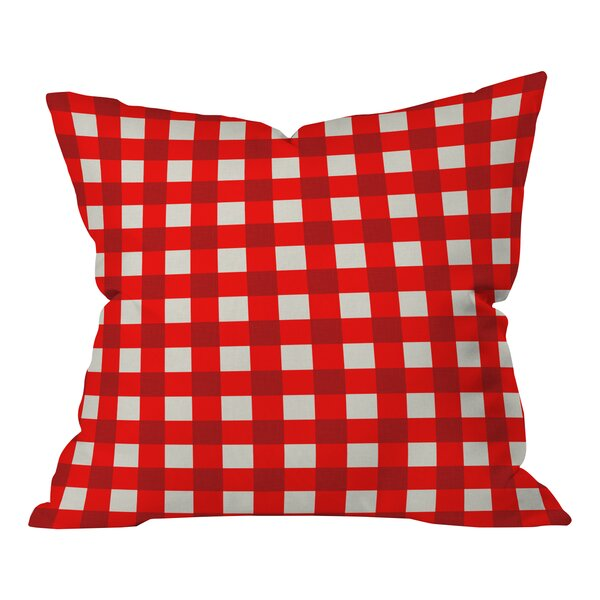 Holli Zollinger Gingham Throw Pillow by Deny Designs