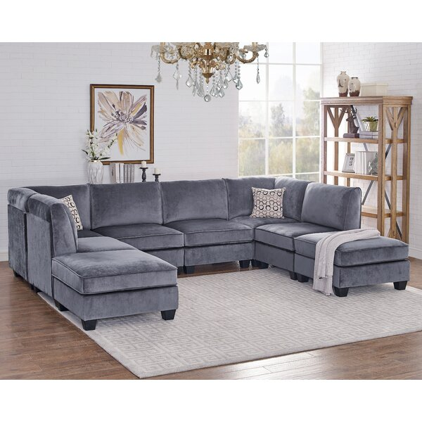 Chic Collection Eula Modular Velvet Sofa Set by Ivy Bronx by Ivy Bronx