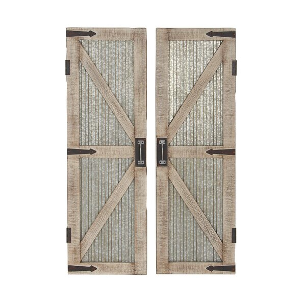 Farmhouse Interior Barn Door (Set of 2) by Cole &