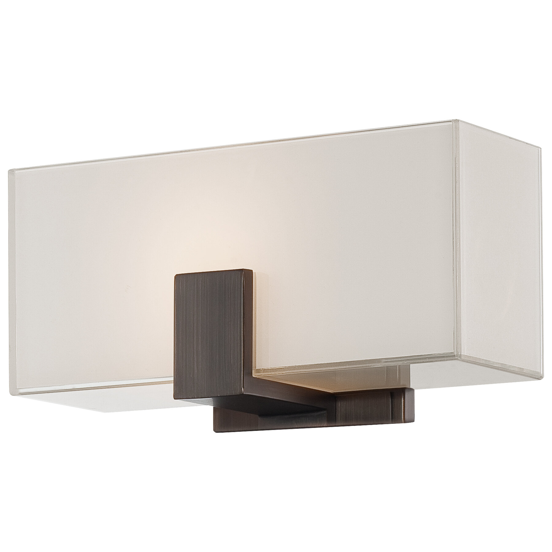 Latitude Run Salar 1-Light Wall Sconce with Square Shades u0026 Reviews   Wayfair  sc 1 st  Wayfair & Latitude Run Salar 1-Light Wall Sconce with Square Shades ...