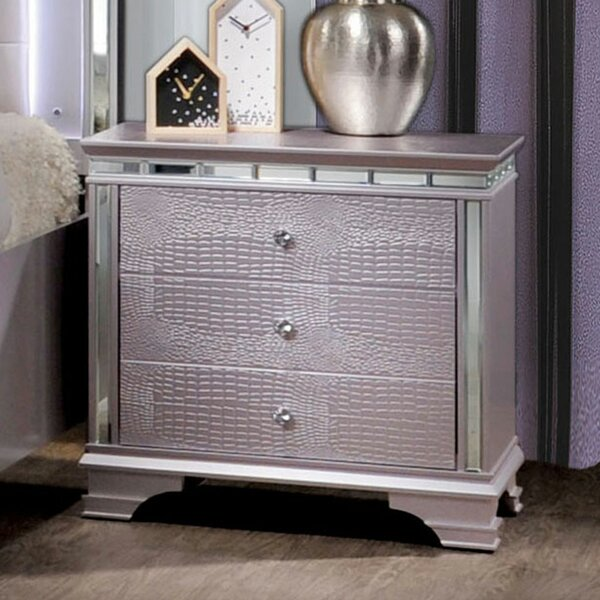 Askerby 3 Drawer Nightstand by House of Hampton