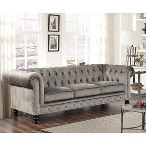 Kashvi Chesterfield Sofa by World Menagerie