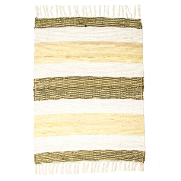 Hampton High Count Hand-Woven Maize Area Rug by CLM