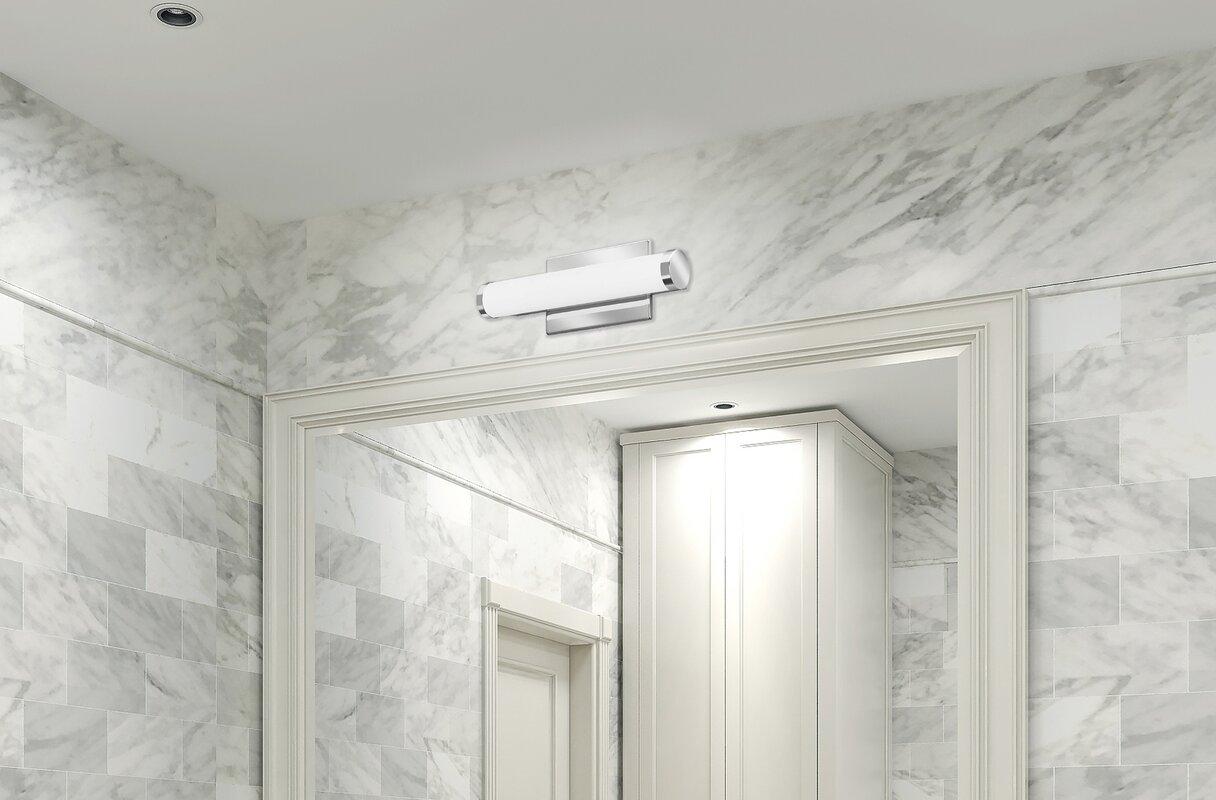 Kichler Barrington 3 Light 22 In Cylinder Vanity Light At: Lithonia Lighting Cylinder 1-Light LED Bath Bar & Reviews