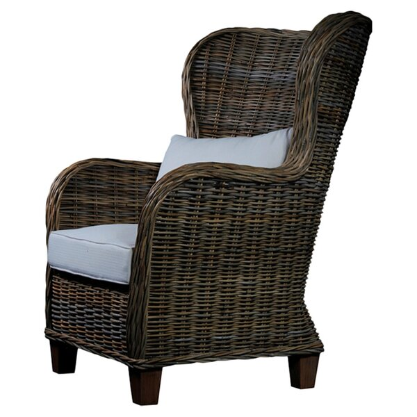 Levering Arm Chair with Cushion by Rosecliff Heights