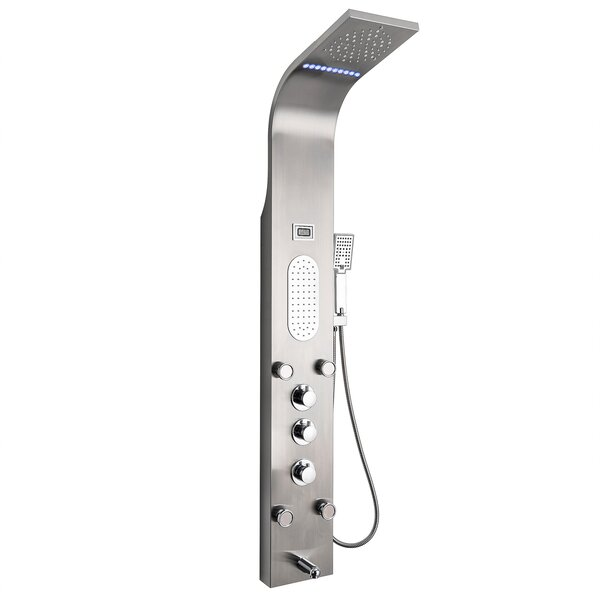 Rainfall Mist Stainless Steel Multi-Function Pressure Balanced Thermostatic Fixed Shower Head Shower Panel by AKDY
