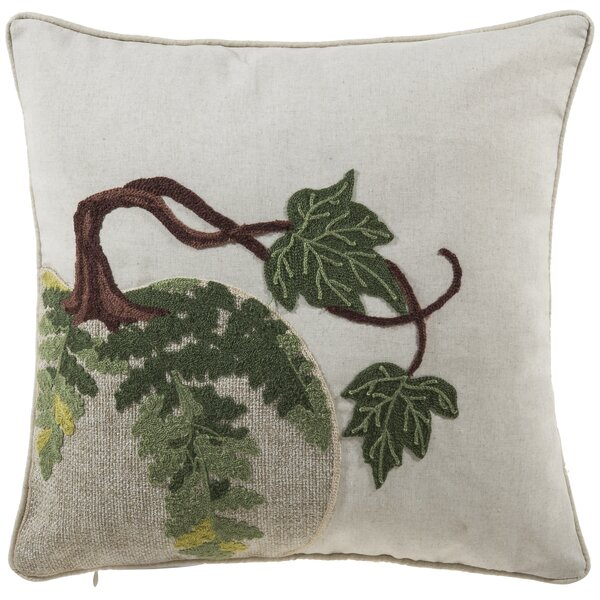 Raffaela Natural Pumkin Throw Pillow by Gracie Oaks
