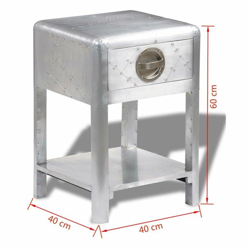 orren ellis beistelltisch diana mit stauraum. Black Bedroom Furniture Sets. Home Design Ideas