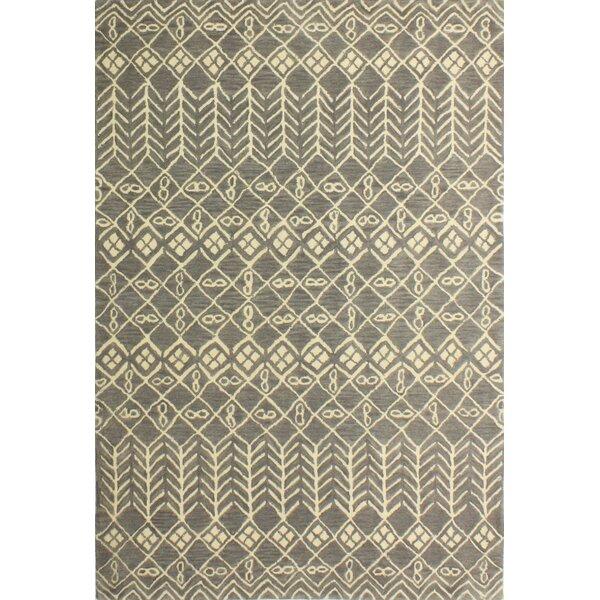 Bielecki Hand-Tufted Grey Area Rug by Mercury Row