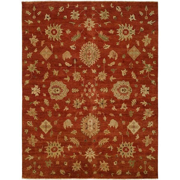 Oriental Hand-Knotted Wool Rust/Yellow Area Rug