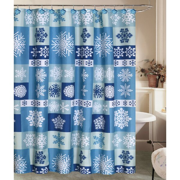 Jolly Holidays Let It Snow Shower Curtain Set by The Holiday Aisle