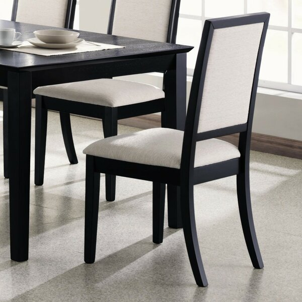 Kraatz Wooden Upholstered Dining Chair (Set of 2) by Alcott Hill