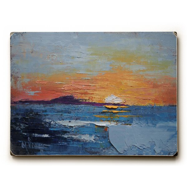 The Sun Falls into the Sea Print of Painting by Artehouse LLC